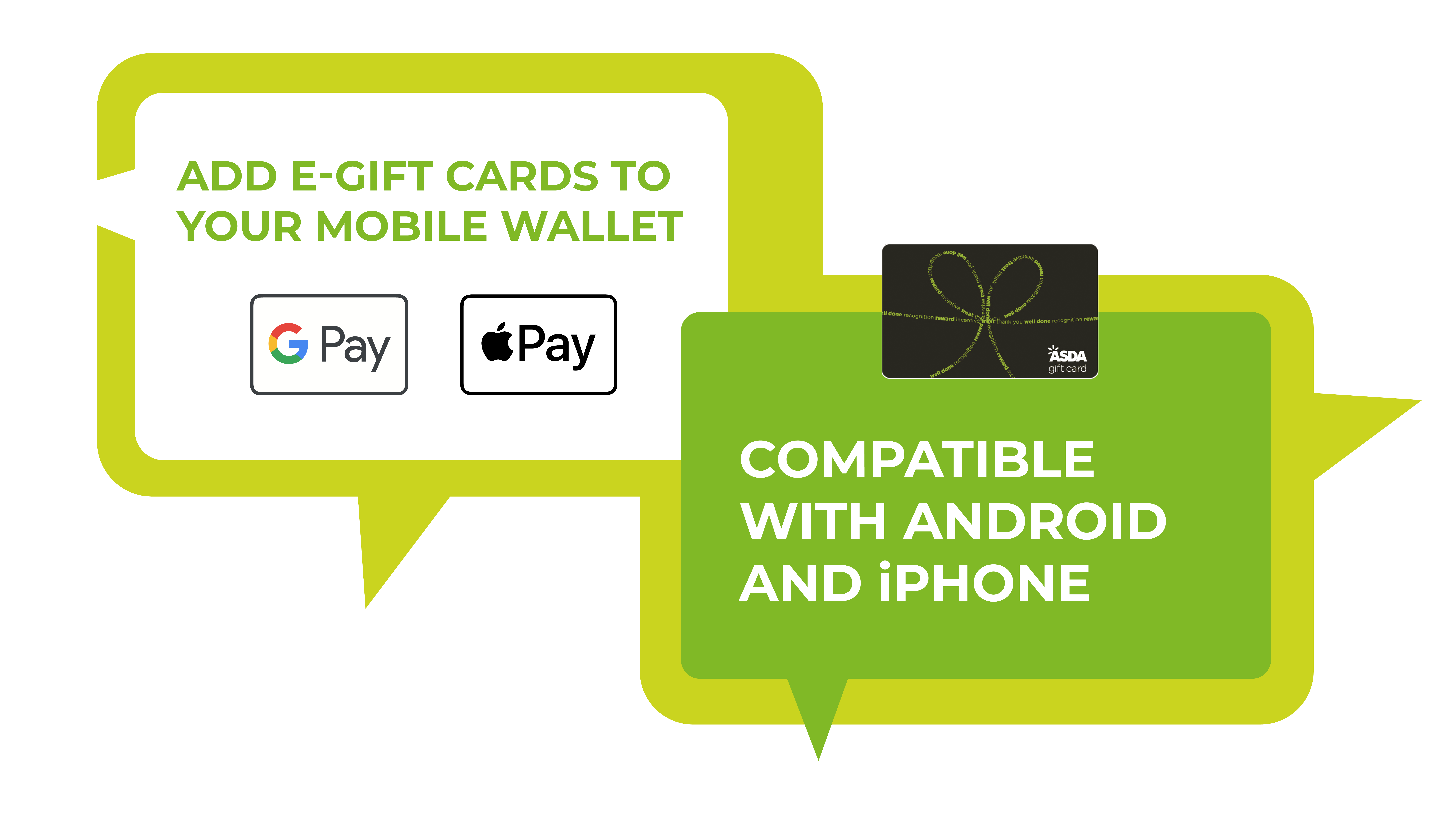 e-gift cards from Asda now Apple Pay and Google Pay compatible